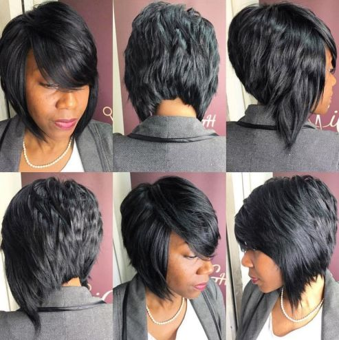 5 angled bob hairstyle for black women