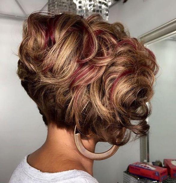 7 short curly layered bob for black women