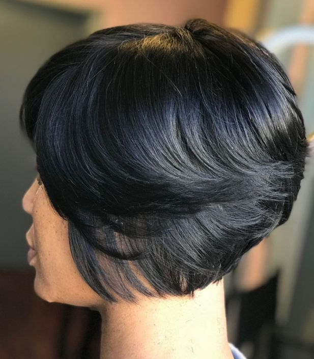 9 short layered bob for black women