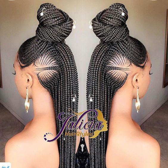 (Part 2) 20+ New Ghana Weaving Hairstyles For Ladies