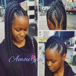 40+ Best Ways to Wear Feed in Braids Ponytail For Black Ladies