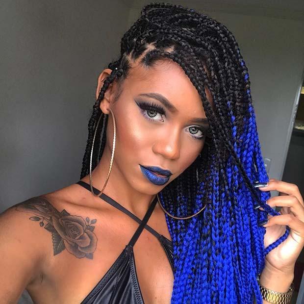 Bold Blue Braids 1
