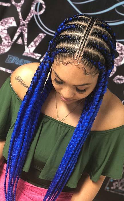 Bold Blue Braids 2