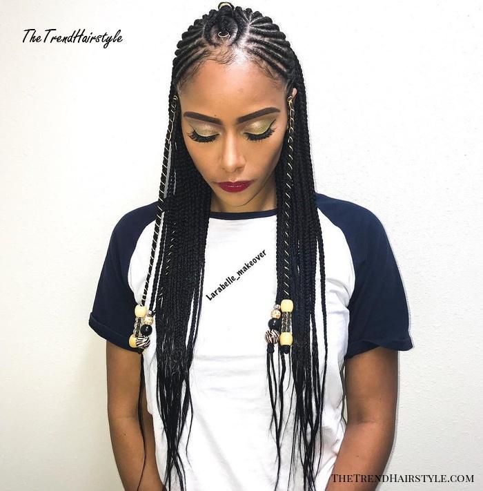 Creative Fulani Braids with Beads