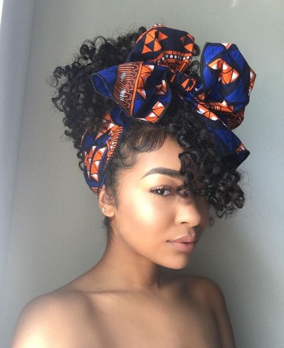 Curly Pineapple With Head Wrap