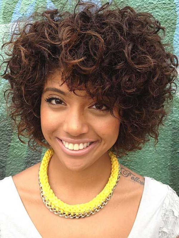 Curly White Bob Hairstyle short hairstyles for black women