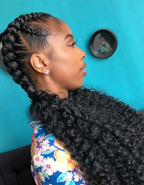 Double Braids with Curly Ends