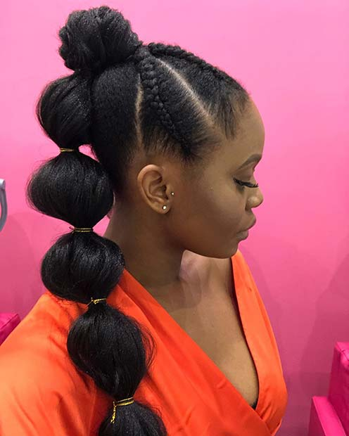 Gorgeous Bubble Ponytail