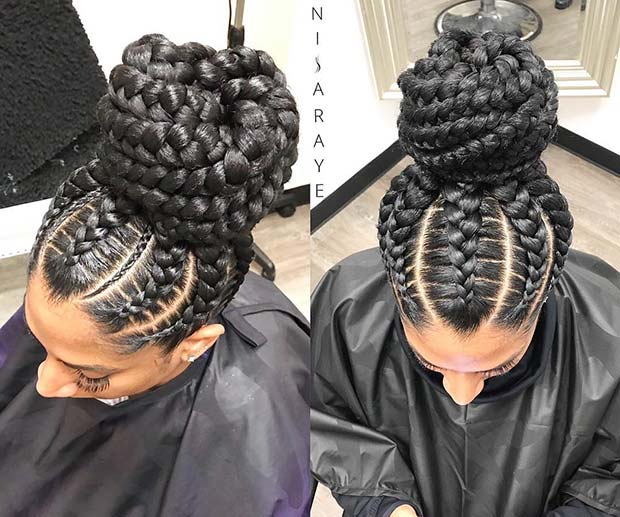 Large Braided Bun 1