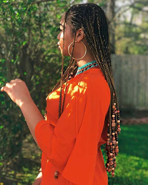Summery Braids with Beads