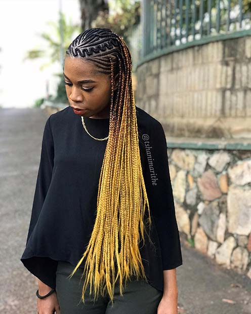 Trendy and Bright Braids