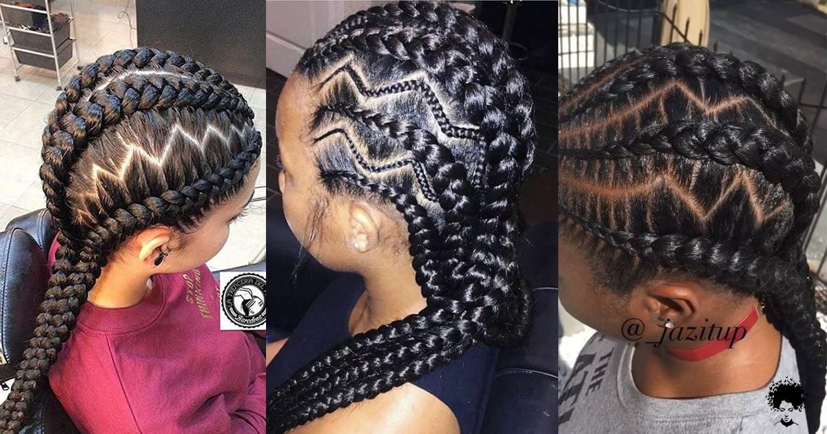 Try Out A Different Look With These Creative Zig- Zag Hairstyles This Weekend
