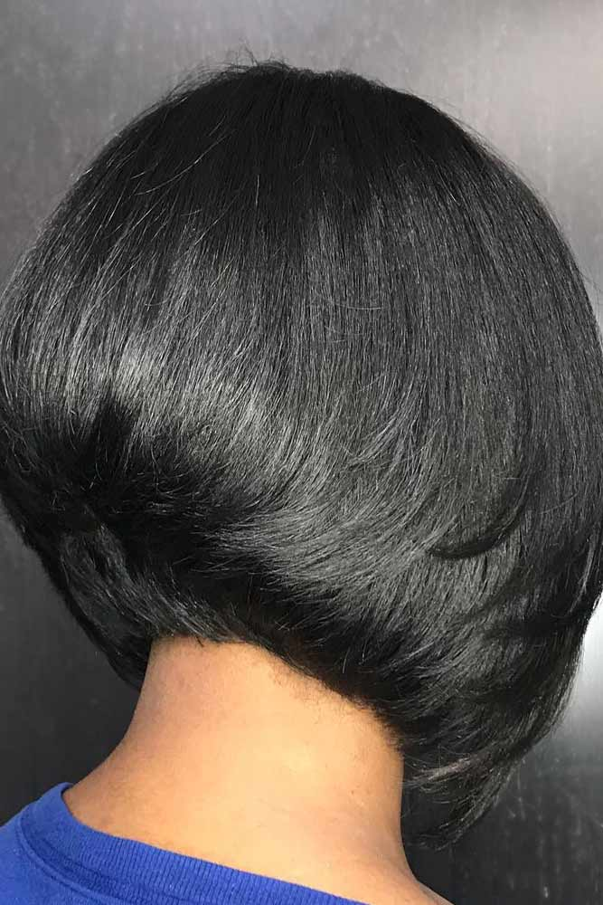 bob hairstyles for black women short wedge straight