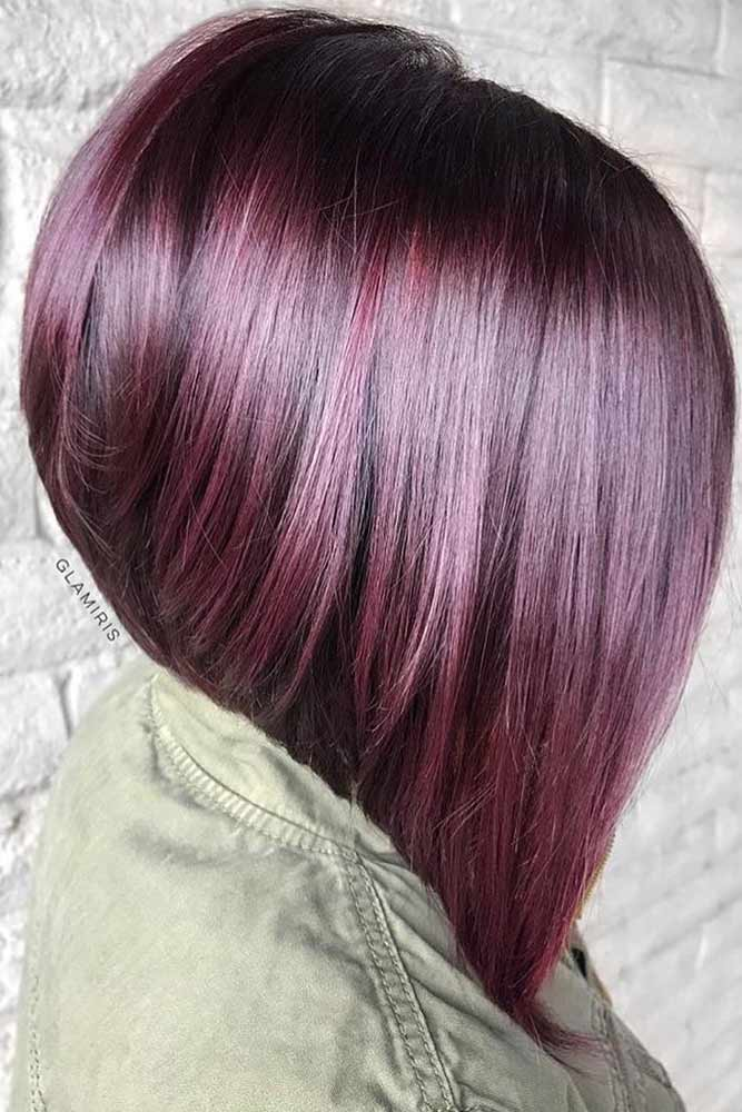 bob hairstyles for black women stacked straight long