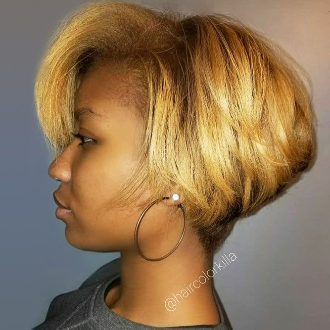 bob hairstyles for black women straight stacked