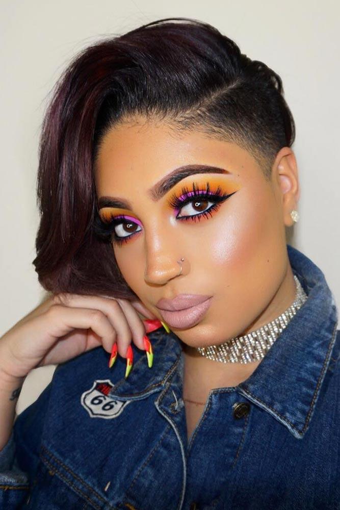 bob hairstyles for black women straight undercut