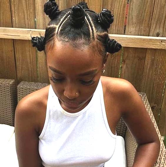braided bantu knots protective hairstyles