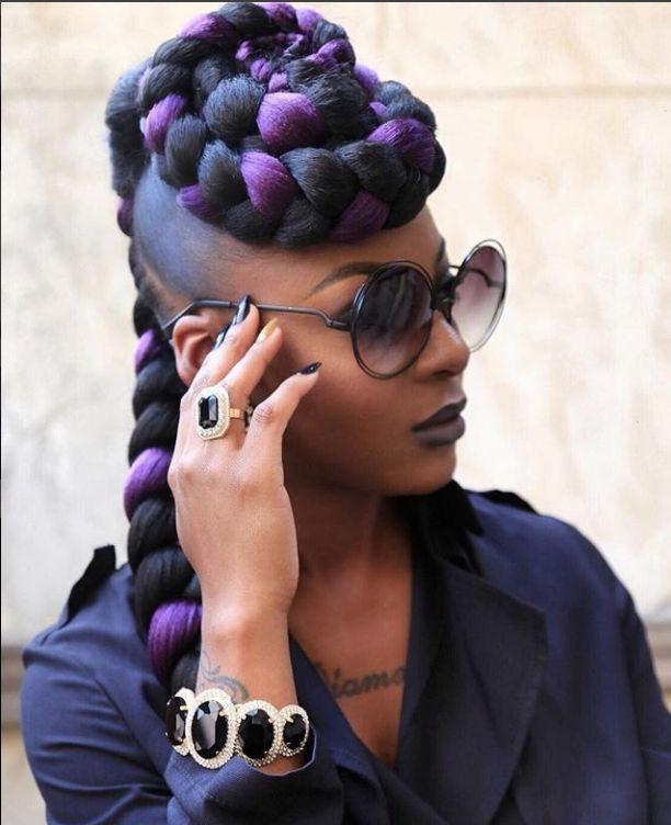 braided hairstyles for black hair inspirational striking 25 purple braids on dark skin of braided hairstyles for black hair
