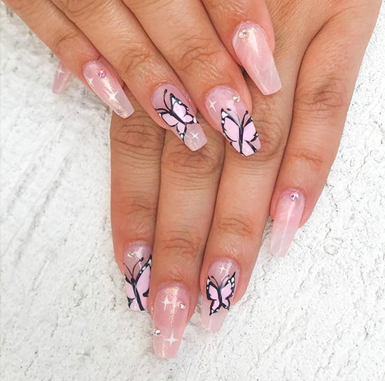 butterfly nails spring nail art trend