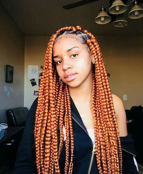 copper box braids