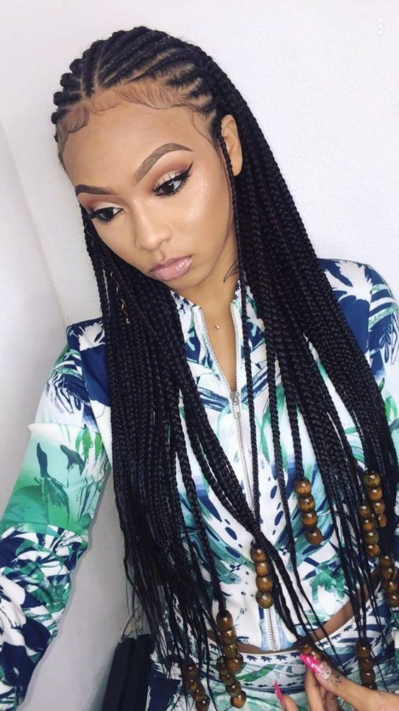 cornrow Box Braids 1