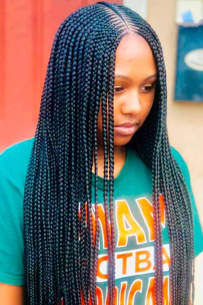 cornrows hairstyles long simple thin