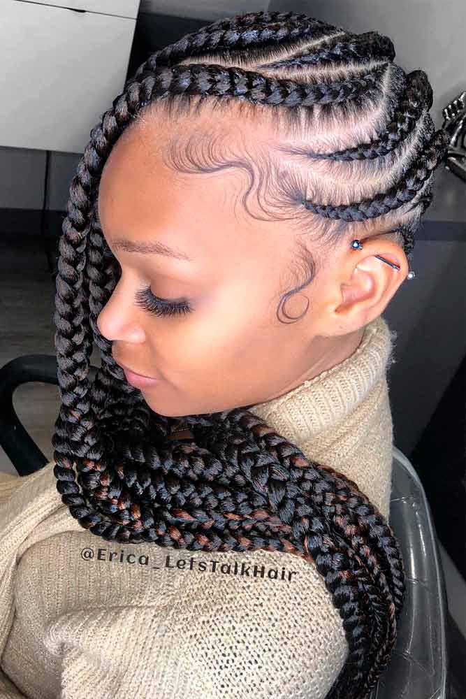 cornrows hairstyles zig zag lemonade braids