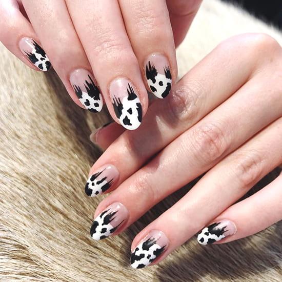 cow prints aniaml print nail art idea