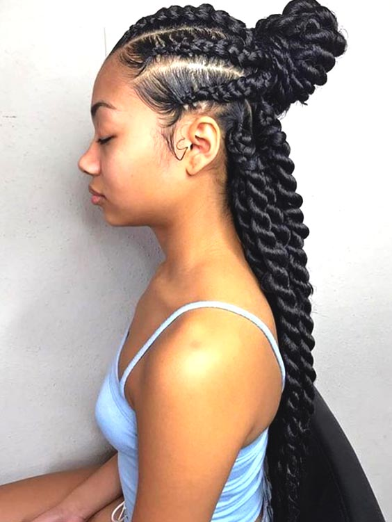feed in jumbo braids protective hairstyles