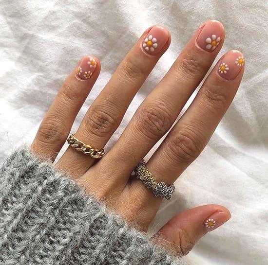 floral daisy nail art ideas