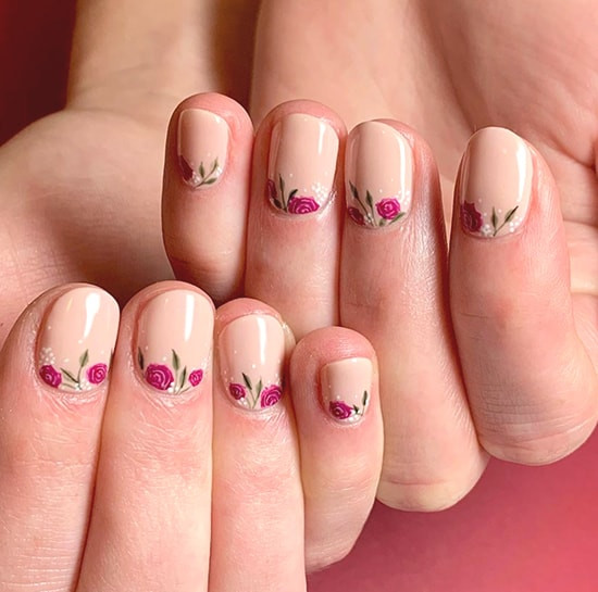 floral spring nail art trend