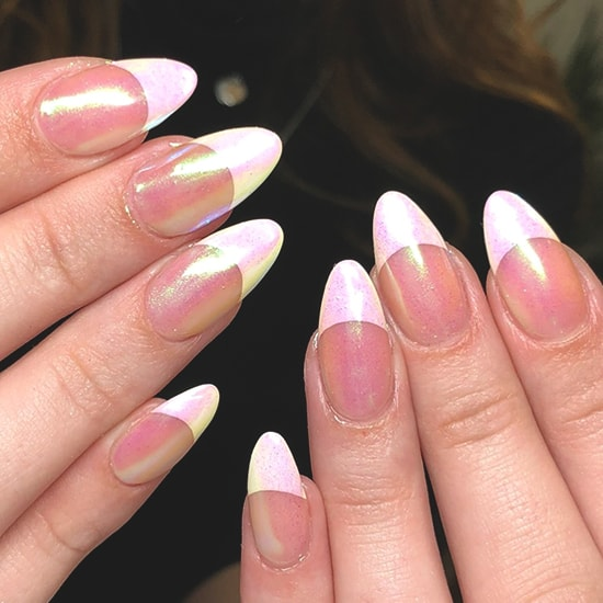 french manicure spring nail art idea