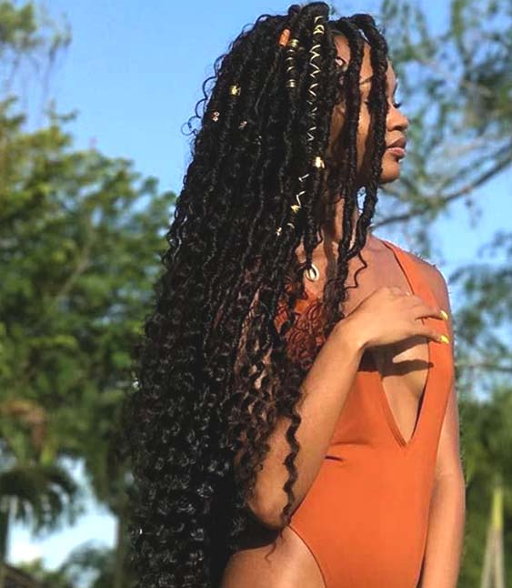 goddess faux locs summer hairstyle