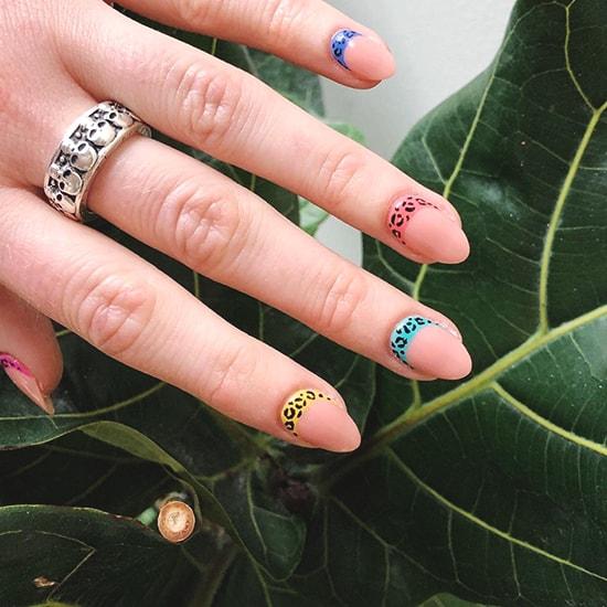 leopard print animal prints nail art idea