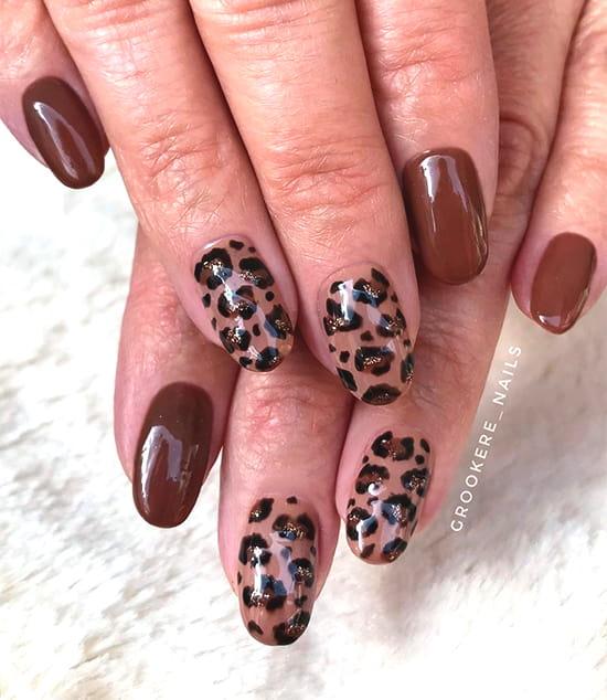 leopard print spring animal prints nail art idea