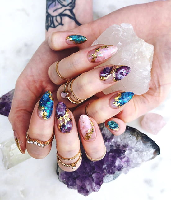 marble nail art design trends
