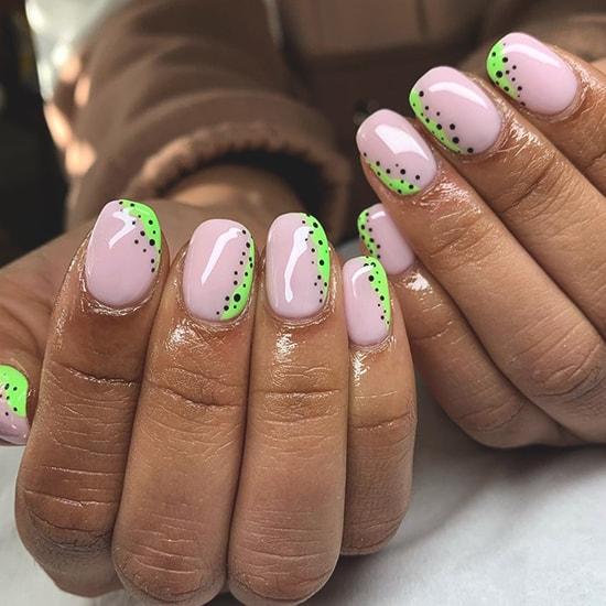 minimal dots spring nail art design