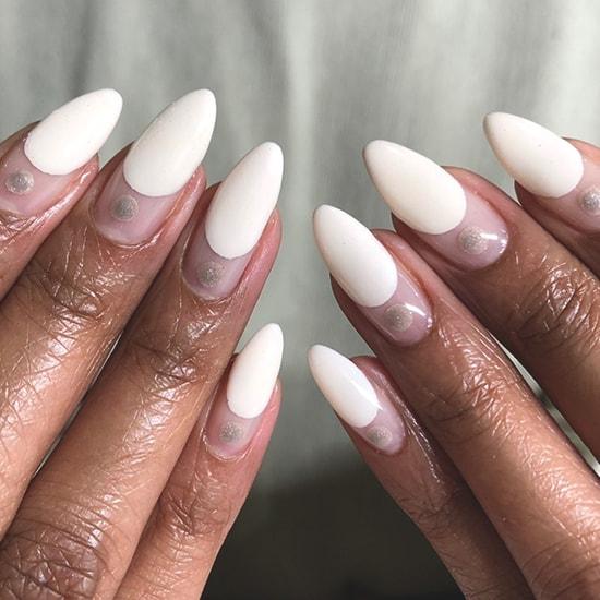 minimal dots spring nail art ideas