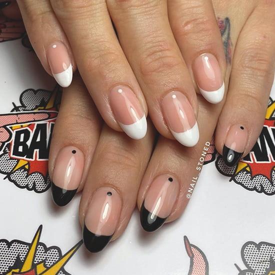 minimal dots spring nail art trend idea