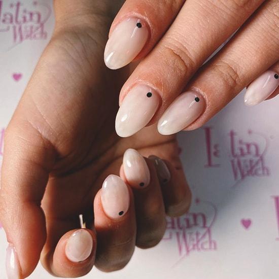 minimal dotted nail art idea spring nails
