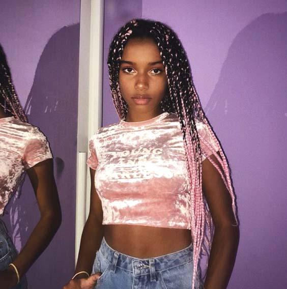 ombre cornrow pastel pink crochet braids