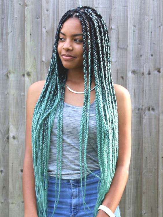 ombre cornrows braids pastel colored hairstyle