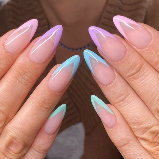 pastel french mani spring nail art trends