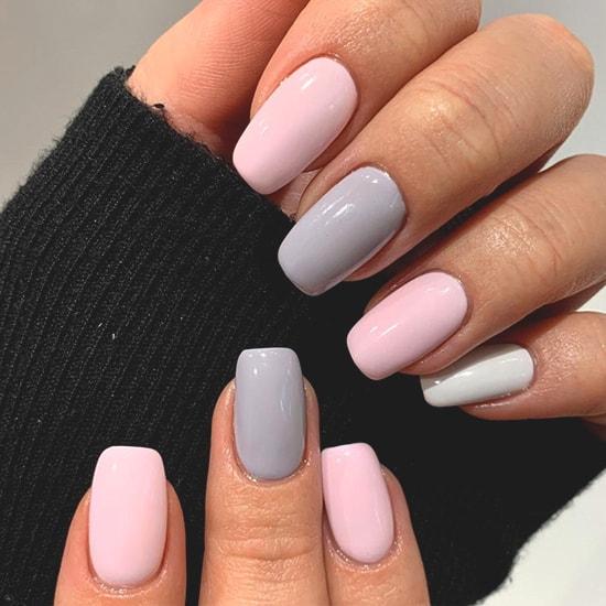 pastel neutral nail art idea spring nail arts
