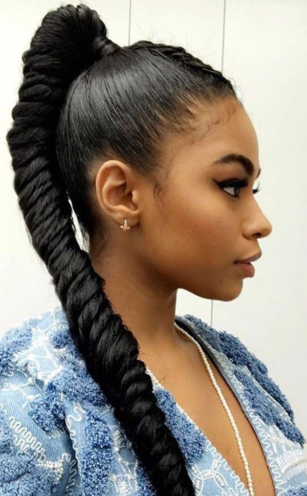 ponytail hairstyles for black women inspirational ponytail hairstyles for black women evesteps of ponytail hairstyles for black w
