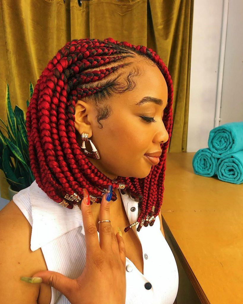 red box braids bob 819x1024 1
