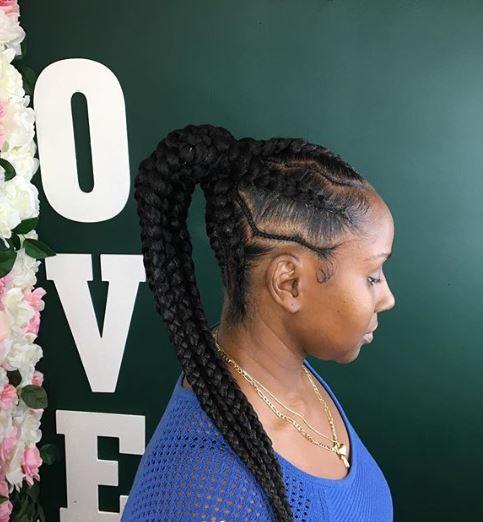 zig zag weaving hairstyles 6