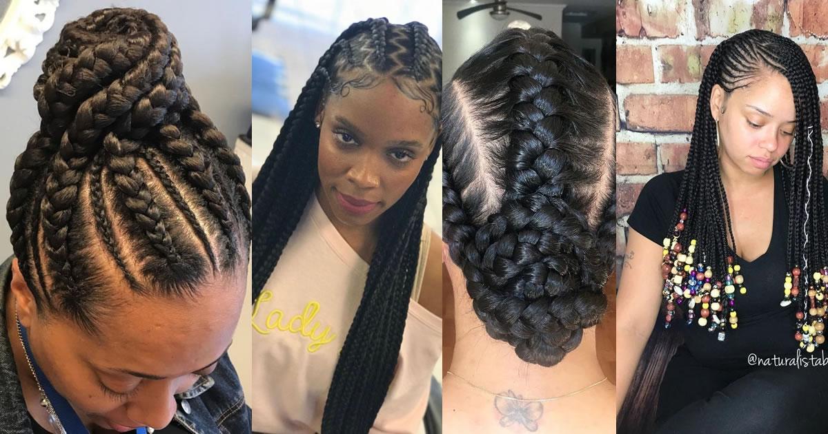 260 Simple and Elegant Ghana Braids Hair Style