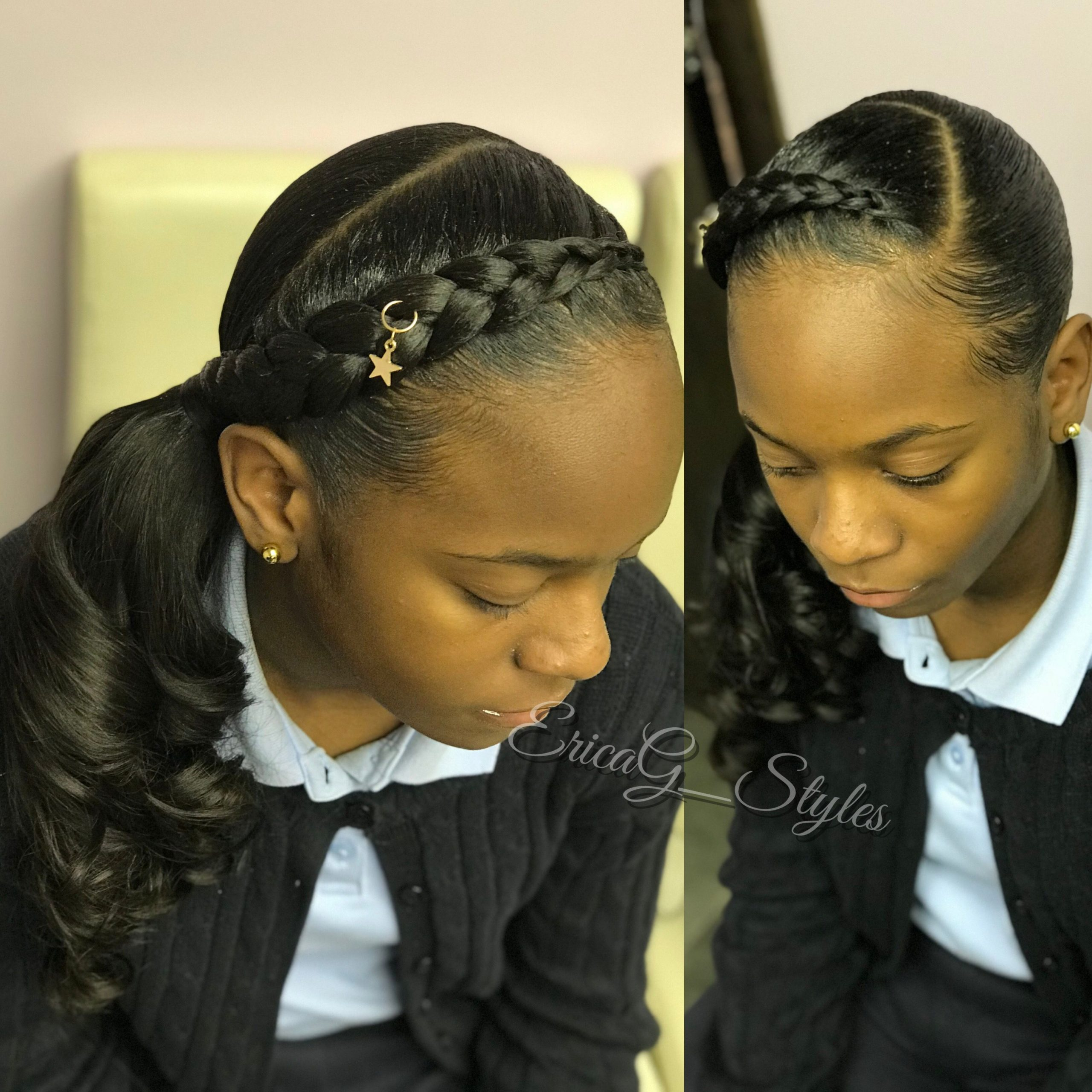 Trendy Little Black Girl Hair Bradiging Styles for School Days