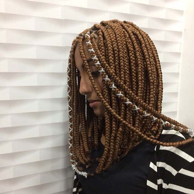 Box Braids with Cords